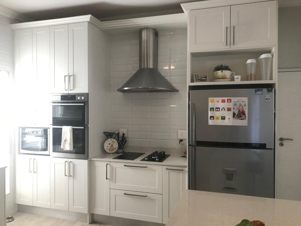 kitchen design with white cupboards